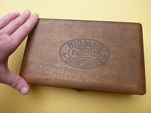 Old Vintage cigar box Hidalgo Premier F and COY could be used as a humidor