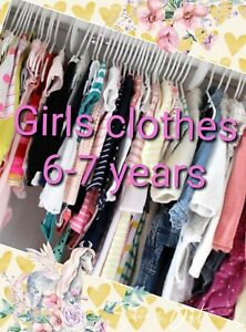 Girl Clothes Make Your Own Bundle Size 6-7 years Dress Coat Jeans Legging Blouse