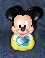 Vintage 1984 Disney Mickey Mouse Baby Toy Yellow RolyPoly Mirror Chime Ball Vguc