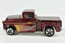 Hot Wheels '56 Flashsider Ford Truck Metalflake Maroon 5 Spoke Malaysia Mint