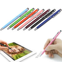 10x Stylus Touchpen Eingabestift Ball Pen Metall Smartphone Tablet iphone ipad^