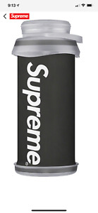 SUPREME HYDRAPAK STASH 1 LITER WATER BOTTLE BLACK FALL/WINTER 2020 - 100% AUTH.