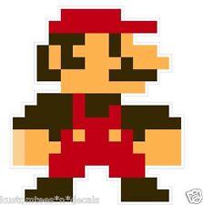 "Nintendo NES 8-bit Super Mario Brothers ""Mario"" 4"" Vinyl Decal Sticker Emblem"