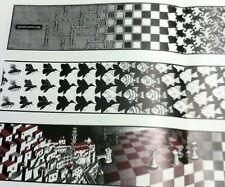 1975 M. C. ESCHER CENTERFOLD LITHOGRAPH PAGE, ''METAMORPHOSE'', 3 PANEL