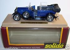 OLD AGE D'OR SOLIDO FIAT 525 N CABRIOLET 1929 BLEU MARINE REF 154 1/43 IN BOX