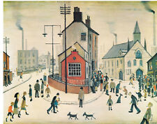 L S Lowry - A Street in Clitheroe - MEDICI POSTCARDS