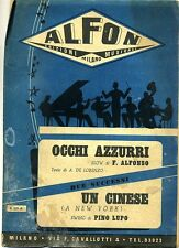 F.Alfonso-De Lorenzo-P.Lupo # OCCHI AZZURRI - UN CINESE # Alfon 1950