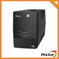 Delta VX Line Interactive 600VA 360W Mini Tower UPS Power Supply Surge Protect