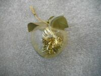 Blown Glass Apple Christmas Ornament Collectible Tree Decor