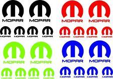 Mopar Dodge Chrysler Emblems / Stickers / Decals - 6 total, multiple colors