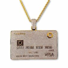 Visa Card Customised 925 Sterling Silver Diamond Pendant