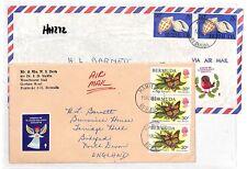 HH272 1981 Bermuda Hamilton Cover Devon GB Airmail {samwells-covers]PTS