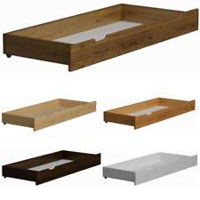 Schublade Bettkasten Unterbettschublade Bettschubkasten auf Rollen Weiß Grau