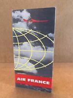 AIR FRANCE BROCHURE, cartes d'itinéraires Air France de l'hémisphère sud 1955