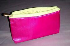 New pink satin make up bag