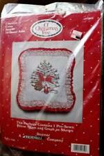 Nip Vintage Counted Cross Stitch Pre-Sewn Pillow Sham Christmas Tree