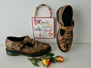 Dr Doc Martens mary jane polley sandals tattoo shoes UK 6.5 EU 40 US 8.5