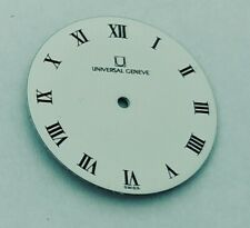 CLASSIC UNIVERSAL GENEVE 29 MMS WHITE ROMAN DIAL VINTAGE REPLACEMENT