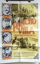 "VTG 1972 ""PANCHO VILLA"" US ORIG 1SH 27X41 FILM POSTER GENE MARTIN, TELLY SAVALAS"