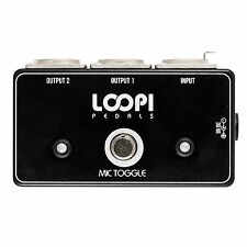 Microphone Momentary Dynamic Switch Pedal - Popless Operation - Loopi Pedals