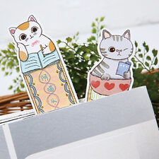 Animal Cat Creative Ultra-thin Paper Clips Ruler Shaped Bookmarks Reading Shan