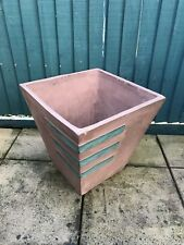 Large vintage handmade garden terracotta pot, used condition