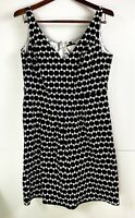 City Chic Black & White Geometric Print Fit & Flare Dress Plus Size  M