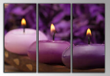 Cuadro Moderno Fotografico Relax Zen Velas base madera, 87 x 62 cm  ref. 26101