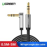 Ugreen Audio Câble 3.5mm Jack Audio Stéréo Auxiliaire Mâle vers Mâle 90 Degrés