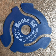 """Collectable """"Route 66"""" 45 RPM RECORD INSERT ADAPTER -Blue"""