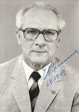 Erich Honecker Original Signed Photo AK 1983