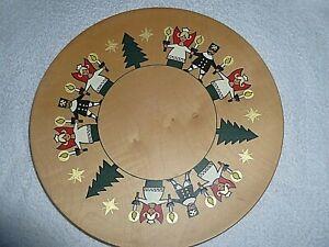 Weihnachtsteller Wandteller Expertic orig. Erzgebirge DDR handbemalt