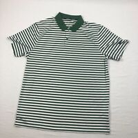 Nike Polo Shirt Men's Green/White Striped Dri-Fit New Multiple Sizes