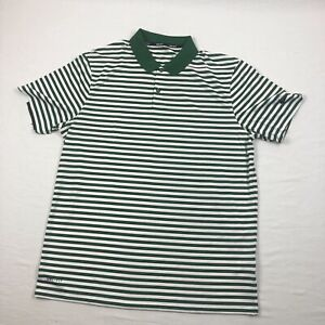 Nike Polo Shirt Men's Green/White Striped Dri-Fit New Multiple Sizes