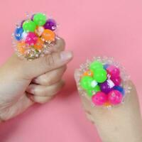 Squeeze Ball Mesh Squishy Balls Stress Relief Squeeze Fidget Toy Balls
