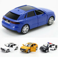 2019 Audi Q8 SUV Off-road 1:36 Modellauto Die Cast Spielzeug Blau Weiß Pull Back