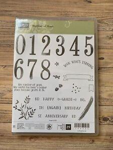 Stampin Up Number Of Years Stamp Set