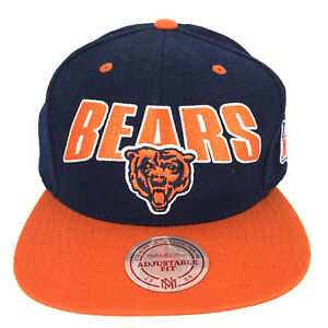 Chicago Bears Mitchell and Ness Cap Spell Out Script Logo Snap Back Football Hat