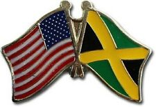 Usa - Jamaica Friendship Crossed Flags Lapel Pin - New - Country Pin