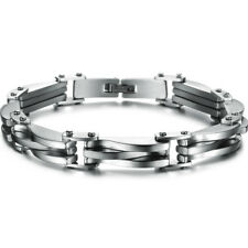 Charm Silver Gold Stainless Steel Men Chain Link Bracelet Wristband Cuff Bangle