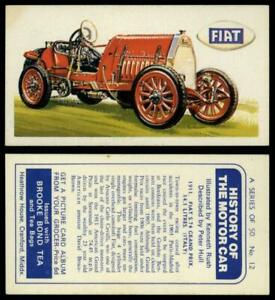 1911 Fiat S.74 Grand Prix 14.1L #12 History Of  Motor Car 1968 Brooke Bond Card