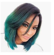 Ombre Black Root TWO Tone HAIR Cosplay Party Lace Frontal Wigs Fashion Anime