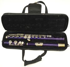 USED MENDINI (BY CECILIO) PURPLE FLUTE WITH CASE