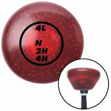 Black Dodge Transfer Case Red Retro Metal Flake Shift Knob with M16 x 1.5 Insert
