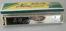 HERO HARMONICA MOUTH ORGAN 18CM 48HOLE - KEY OF C - TRUE MUSICAL SOUND