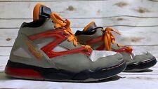 Vintage Reebok HEXALITE The Pump Gray Leather Basketball Shoes Men's Sz 4