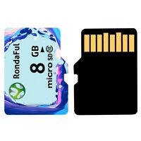 8GB Micro SD TF SDHC High Capacity High Speed Flash Memory Card Class 10