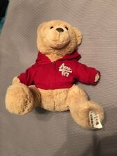 Aeropostale Bear Plush Beige with Red Zip Sweatshirt and Hood with tag