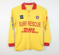 Surf Rescue Surf Life Saving Super Rare Long Sleeve Sun Shirt Size Men's Small
