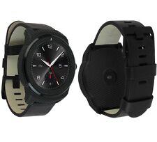 Skinomi Carbon Fiber Black Skin+Ultra Clear HD Screen Protector for LG G Watch R